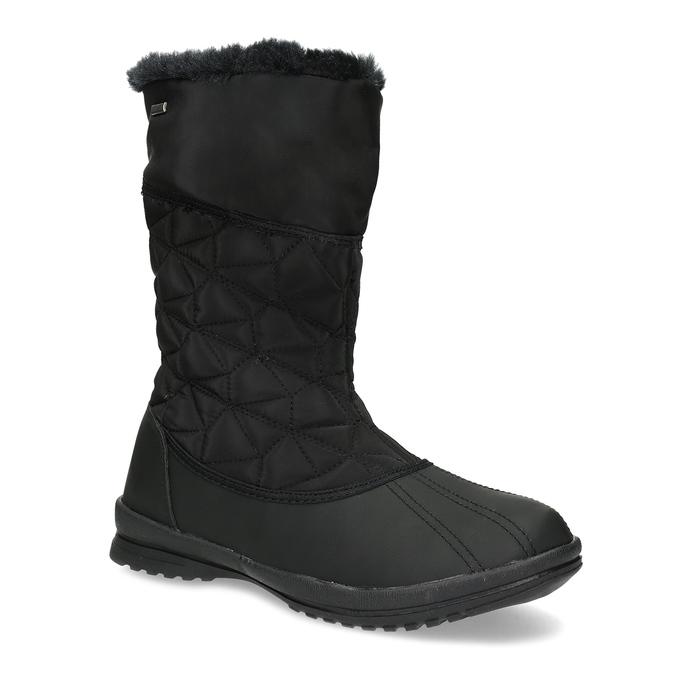Dámská černá zimní obuv s prošíváním bata, černá, 599-6624 - 13