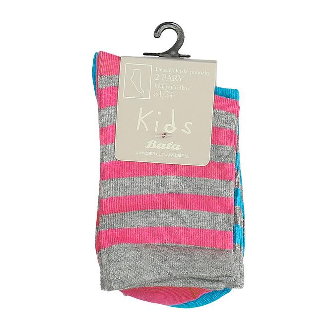 Dětské vysoké pruhované ponožky bata, šedá, 919-2686 - 13