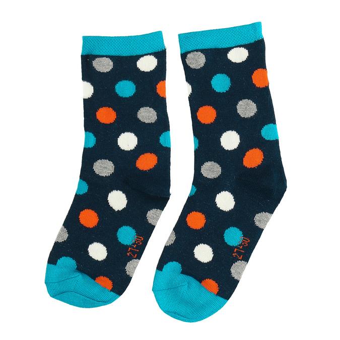 Dětské modré vysoké ponožky s puntíky bata, modrá, 919-9686 - 26