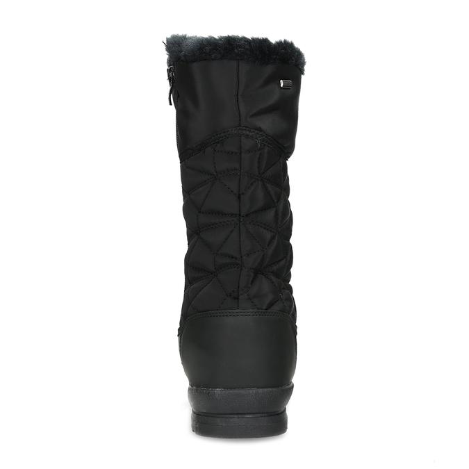 Dámská černá zimní obuv s prošíváním bata, černá, 599-6624 - 15
