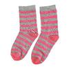 Dětské vysoké pruhované ponožky bata, šedá, 919-2686 - 26