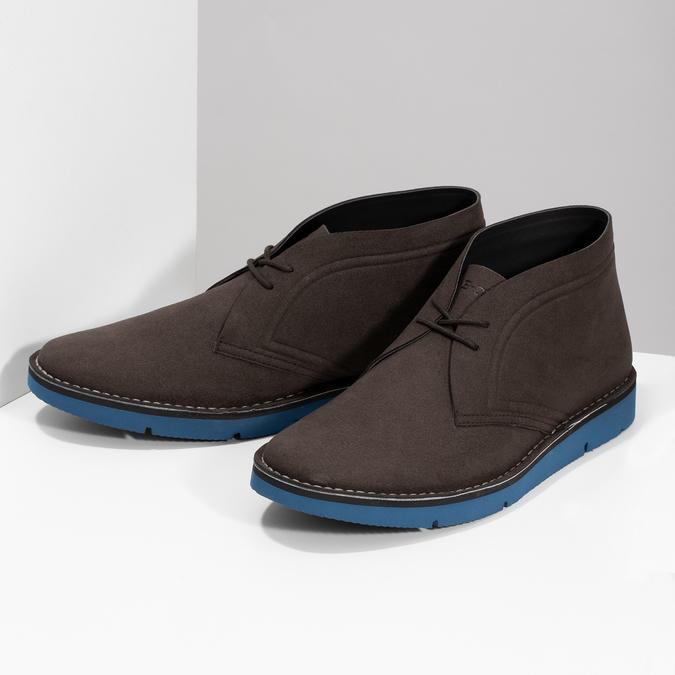Hnědá pánská kotníčková obuv bata-b-flex, hnědá, 899-4600 - 16