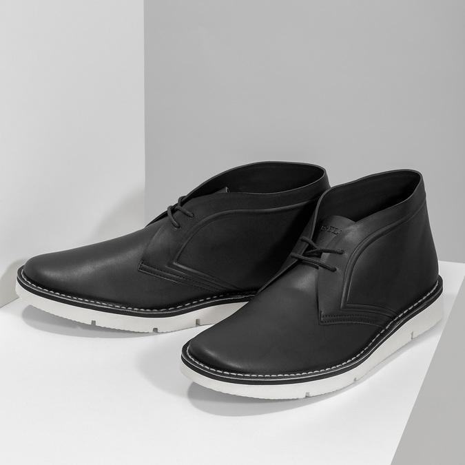 Černá pánská kotníčková obuv bata-b-flex, černá, 899-6601 - 16