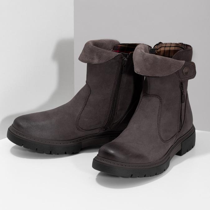 Kožená hnědá dámská obuv weinbrenner, hnědá, 596-4759 - 16