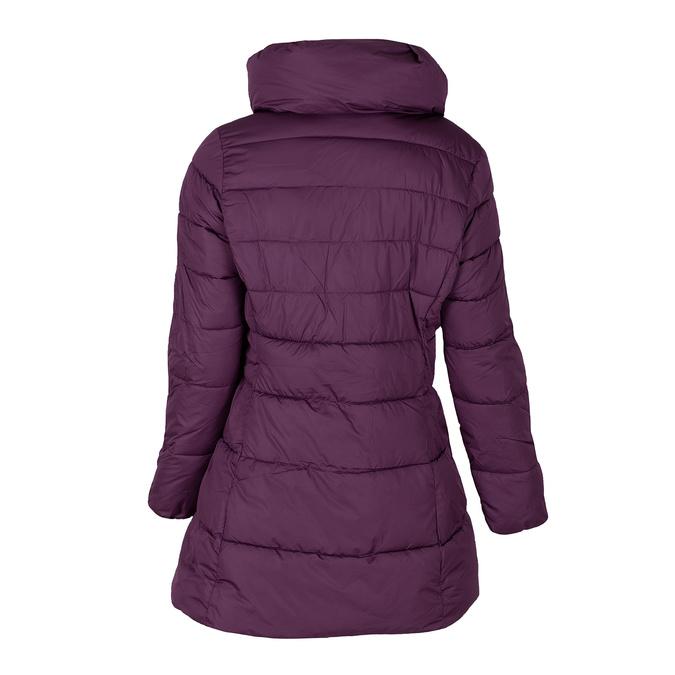 Dlouhá dámská fialová bunda s prošitím bata, fialová, 979-0348 - 26