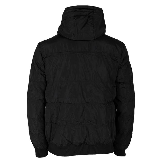 Černá pánská bunda s kapucí bata, černá, 979-6387 - 26