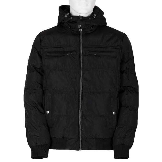 Černá pánská bunda s kapucí bata, černá, 979-6387 - 13