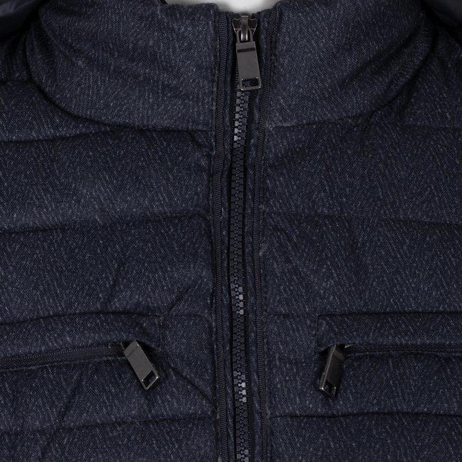 Modrá pánská prošívaná bunda s kapucí bata, modrá, 979-9402 - 16
