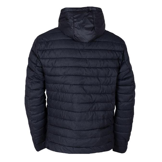 Modrá pánská prošívaná bunda s kapucí bata, modrá, 979-9402 - 26