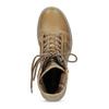 Světle hnědá dámská kožená obuv weinbrenner, hnědá, 596-3758 - 17