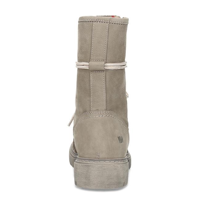Béžová kožená dámská obuv vysoká weinbrenner, béžová, 596-8746 - 15