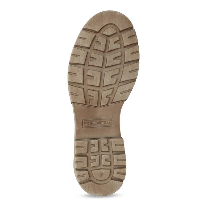 Světle hnědá dámská kožená obuv weinbrenner, hnědá, 596-3758 - 18