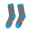 Dětské pruhované ponožky bata, modrá, 919-9688 - 26