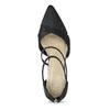 Dámské černé lodičky s kamínky insolia, černá, 729-6634 - 17