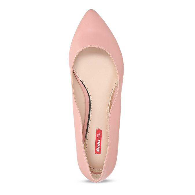 Dámské baleríny do špičky růžové bata-red-label, růžová, 521-5644 - 17