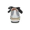 Stříbrné dámské polobotky s výraznou podešví bata-red-label, stříbrná, 621-2650 - 15