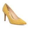 Žluté dámské lodičky na jehlovém podpatku bata-red-label, žlutá, 729-8637 - 13