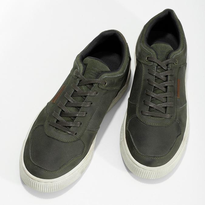 Kožené khaki pánské tenisky bata, zelená, 846-7735 - 16