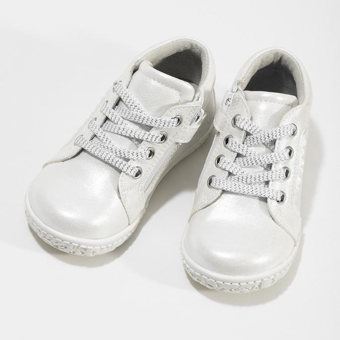 Perleťové kotníčkové dětské tenisky bubblegummers, stříbrná, 121-1635 - 16