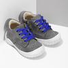 Šedé dětské tenisky s modrými tkaničkami bubblegummers, šedá, 111-2631 - 26