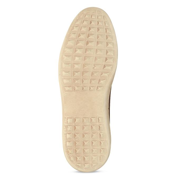 Hnědé kožené tenisky s pružením bata, hnědá, 846-3736 - 18