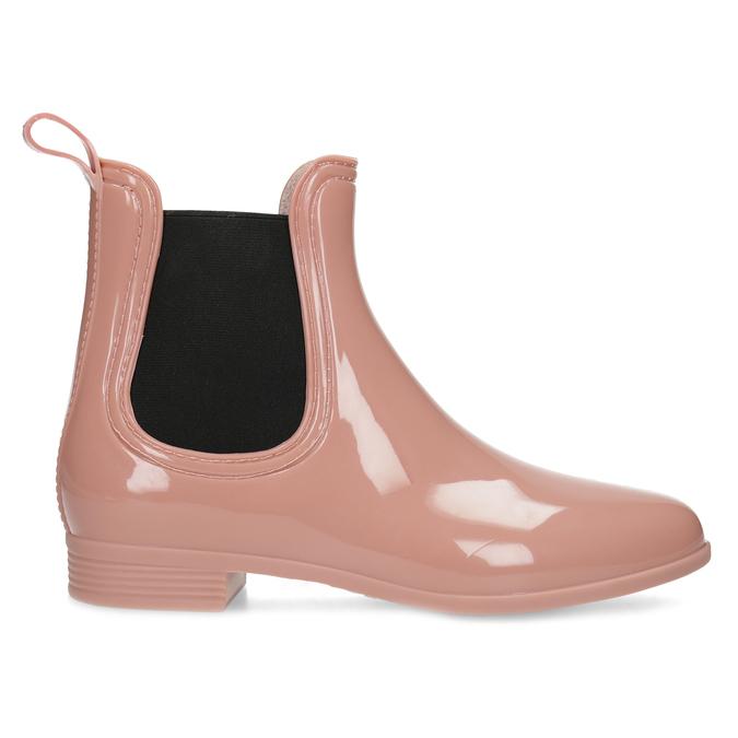 Béžové Chelsea kotníčkové holínky bata, růžová, 592-5610 - 19