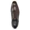 Tmavě hnědé kožené pánské polobotky bata, hnědá, 826-4615 - 17