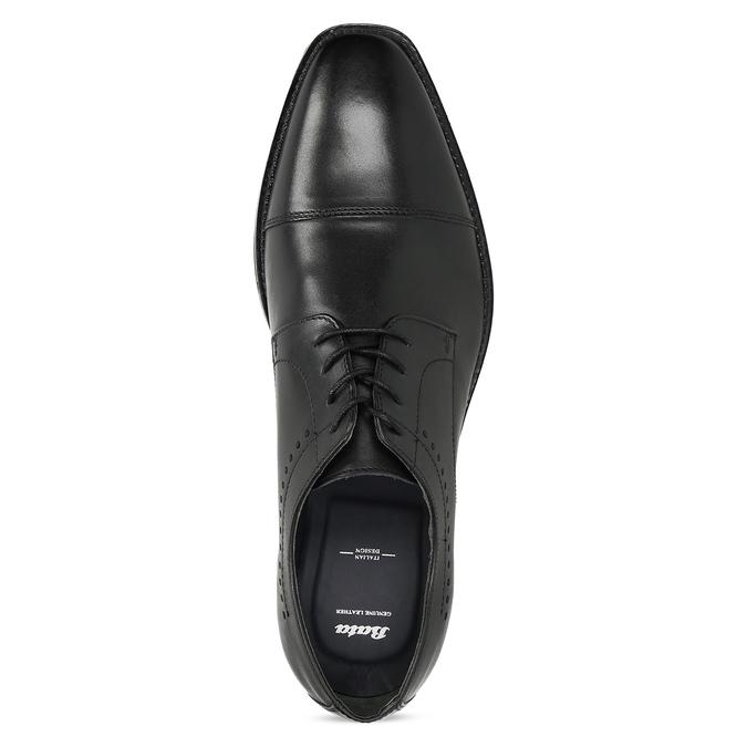 Černé pánské polobotky kožené bata, černá, 824-6860 - 17