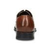 Hnědé kožené polobotky s perforací bata, hnědá, 826-3860 - 15