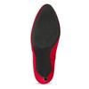 Červené dámské kotníčkové kozačky na podpatku bata-red-label, červená, 799-5646 - 18