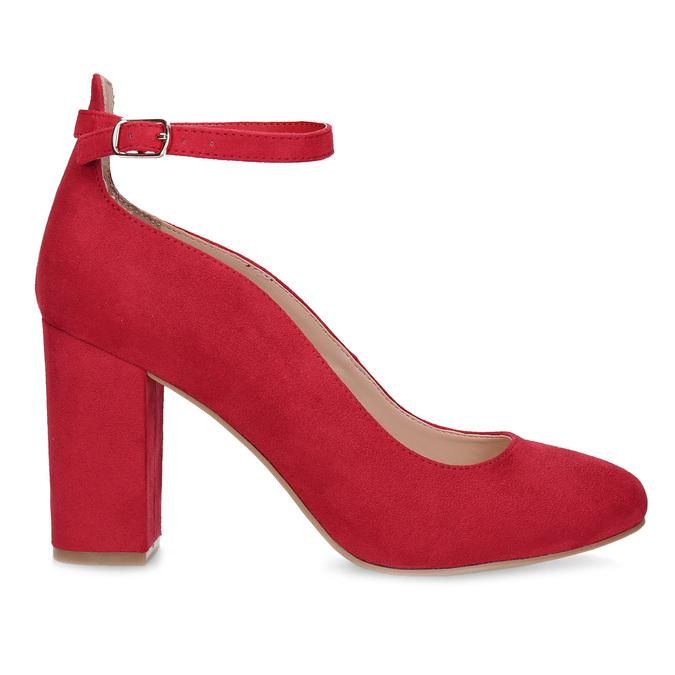 Červené dámské lodičky na stabilním podpatku bata-red-label, červená, 729-5635 - 19