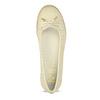 Béžové dámské kožené baleríny s perforací flexible, béžová, 524-8607 - 17