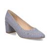 Modré dámské lodičky na stabilním podpatku bata-red-label, modrá, 629-9653 - 13
