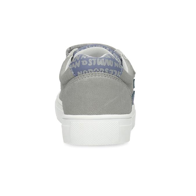 Chlapecké tenisky šedé na suchý zip mini-b, šedá, 411-2615 - 15