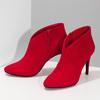 Červené dámské kotníčkové kozačky na podpatku bata-red-label, červená, 799-5646 - 16