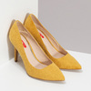 Žluté dámské lodičky na jehlovém podpatku bata-red-label, žlutá, 729-8637 - 26