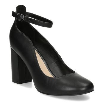 Černé dámské lodičky na stabilním podpatku bata-red-label, černá, 729-6635 - 13