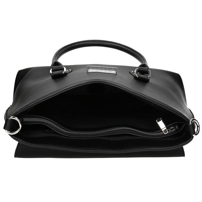 Černá kabelka s kovovou sponou a cvoky bata, černá, 961-6963 - 15