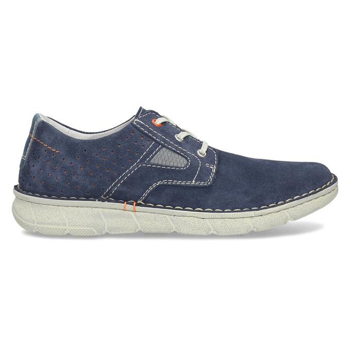 Modré pánské tenisky z broušené kůže bata, modrá, 823-9640 - 19