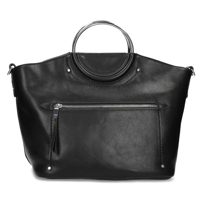 Dámská černá kabelka s kovovými uchy bata, černá, 961-6934 - 26