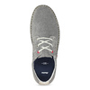 Pánské šedé tenisky z broušené kůže bata, šedá, 823-2640 - 17