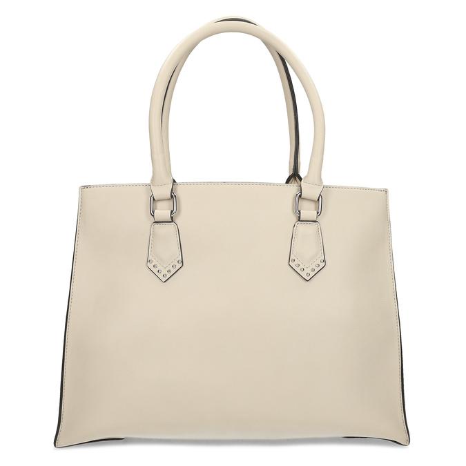 Dámská béžová kabelka s kovovými cvoky bata, béžová, 961-8962 - 26