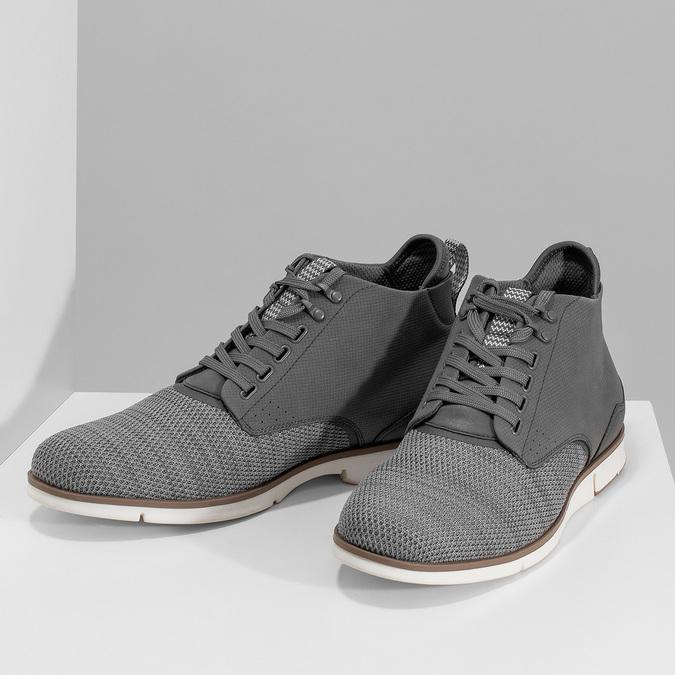 Šedá pánská kotníčková obuv bata-red-label, šedá, 821-2607 - 16