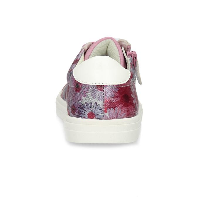 Růžové dětské tenisky s květinovým potiskem mini-b, růžová, 321-5635 - 15