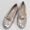Zlaté kožené dámské baleríny šíře G gabor, zlatá, 528-8636 - 16