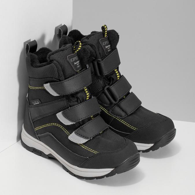 Dětská černá zimní obuv na suché zipy icepeak, černá, 399-6019 - 26