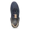 Tmavě modré pánské tenisky z broušené kůže bata-light, modrá, 846-9722 - 17