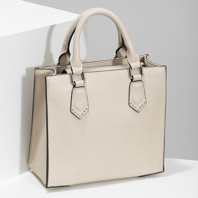 Béžová dámská kabelka s popruhem bata, béžová, 961-8951 - 17