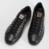 Černé dámské kožené tenisky s kamínky hogl, černá, 544-6032 - 16