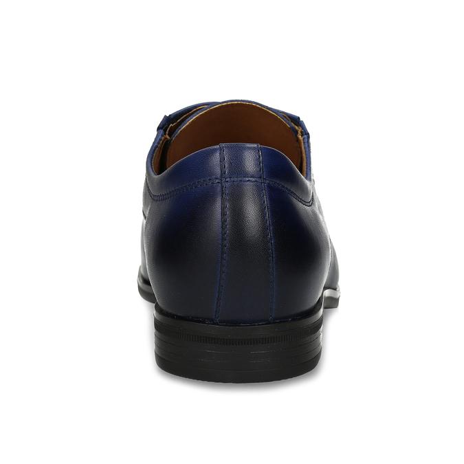 Pánské modré kožené Derby polobotky conhpol, modrá, 826-9507 - 15